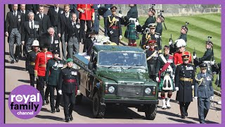 Queen Arrives at Windsor Castle and Funeral Procession Begins