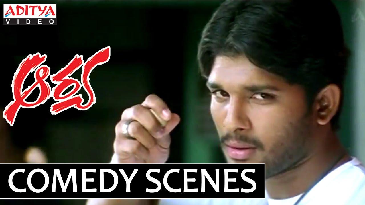 Aarya comedy scenes allu arjun love letter comedy - 3 2