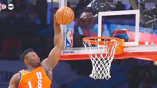 Zion Williamson Breaks Rim After Dunk In Rising Stars Game! Team USA vs Team World 2020 NBA Season