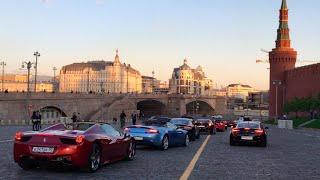Суперкары Москвы,покатушки на Ferrari #roaddevils