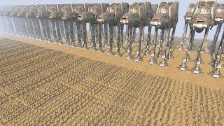 DROIDS vs AT-AT WALKERS - Star Wars: Galaxy at War MOD