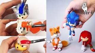 Create Sonic, Tails, Knuckles with Clay Collection (Summary version) / clay art [kiArt 키아트 키아]