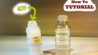 Mixing your Potassium Hydroxide (KOH) with your WATER for your Hydrogen Generator (HHO) - #Sub4Sub