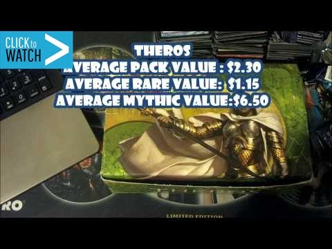 What is the Value of a Theros Booster Pack, Rare, and Mythic?