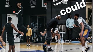 Lebron James klutch scrimmages with fellow klutch client
