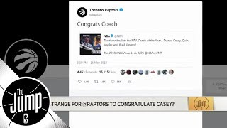 Roasting the Raptors' Twitter account for congratulating Dwane Casey | The Jump | ESPN