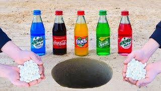 Experiment: Cola, Sprite, Fanta, Mirinda vs Mentos