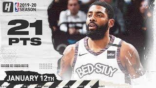 Kyrie Irving INJURY RETURN, 21 Points Full Highlights | Hawks vs Nets | January 12, 2020