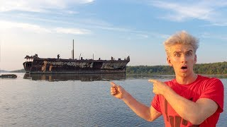 SEARCHING FOR ABANDONED GHOST SHIP!! (HAUNTED WRECK)