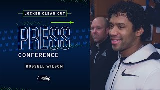 Russell Wilson Locker Clean Out Press Conference   2019 Seattle Seahawks