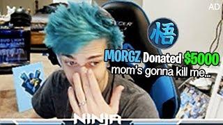 Donating $5000 to FORTNITE Streamers on Mom's Credit Card... (Ninja)