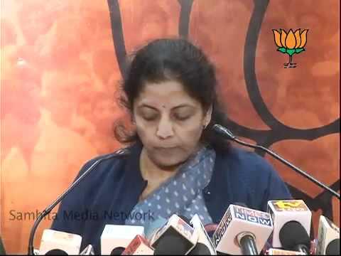 Corruption in Army & Rahul Gandhi's statement on Price Rise: Smt. Nirmala Sitharaman: 12.01.2011