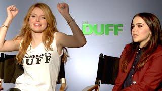 Mae Whitman & Bella Thorne WEIRDEST TRAITS! The Duff Interview Part 1