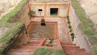 Amazing Man Dig To Build Underground House & Great Underground Swimming Pool