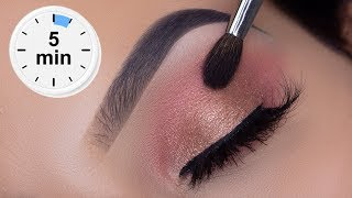 5 MINUTE Eyelook Using ONLY 3 STEPS! | Super Easy Eye Makeup Tutorial