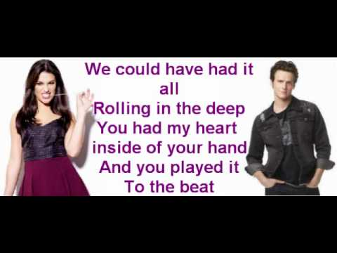 Rolling in the deep By Glee cast [With lyrics.!]
