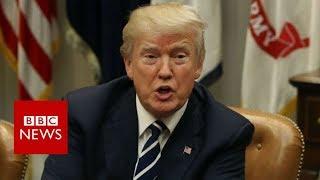 Trump denies crude slur against migrant countries - BBC News