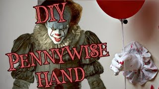 DIY Pennywise Hand Decoration for under $7! It Movie Costume Decor halloween Idea tutorial