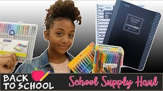 Back To School - School Supplies Haul | LexiVee03