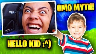 Myth Plays With 10 Year Old Kid In Fortnite (FUNNY) | Fortnite Battle Royale