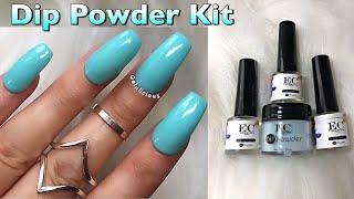 EC Cosmetics Dip Powder Kit | 1st Attempt | How To Use Dip Powder?
