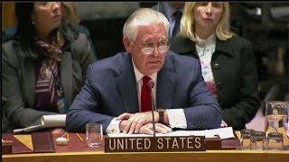 Secretary Tillerson Responds to DPRK Representative at UN Security Council Briefing