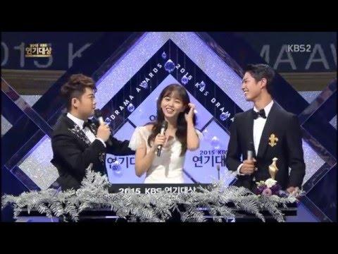151231 KBS Drama Awards MC Park Bo Gum & Kim So Hyun Acting Psychology