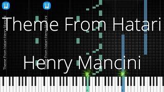 🎹 [Piano Solo]Theme From Hatari, Henry Mancini-Synthesia Piano Tutorial