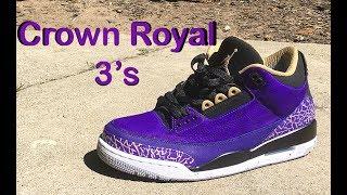 """How to: Air Jordan 3 """"Crown Royal"""" CUSTOM"""