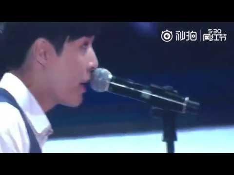 [Fancam] 160526 林俊杰 JJ Lin & 张艺兴 Zhang Yixing LAY 合唱 Duet - I Believe I Can Fly + 翅膀 Wings