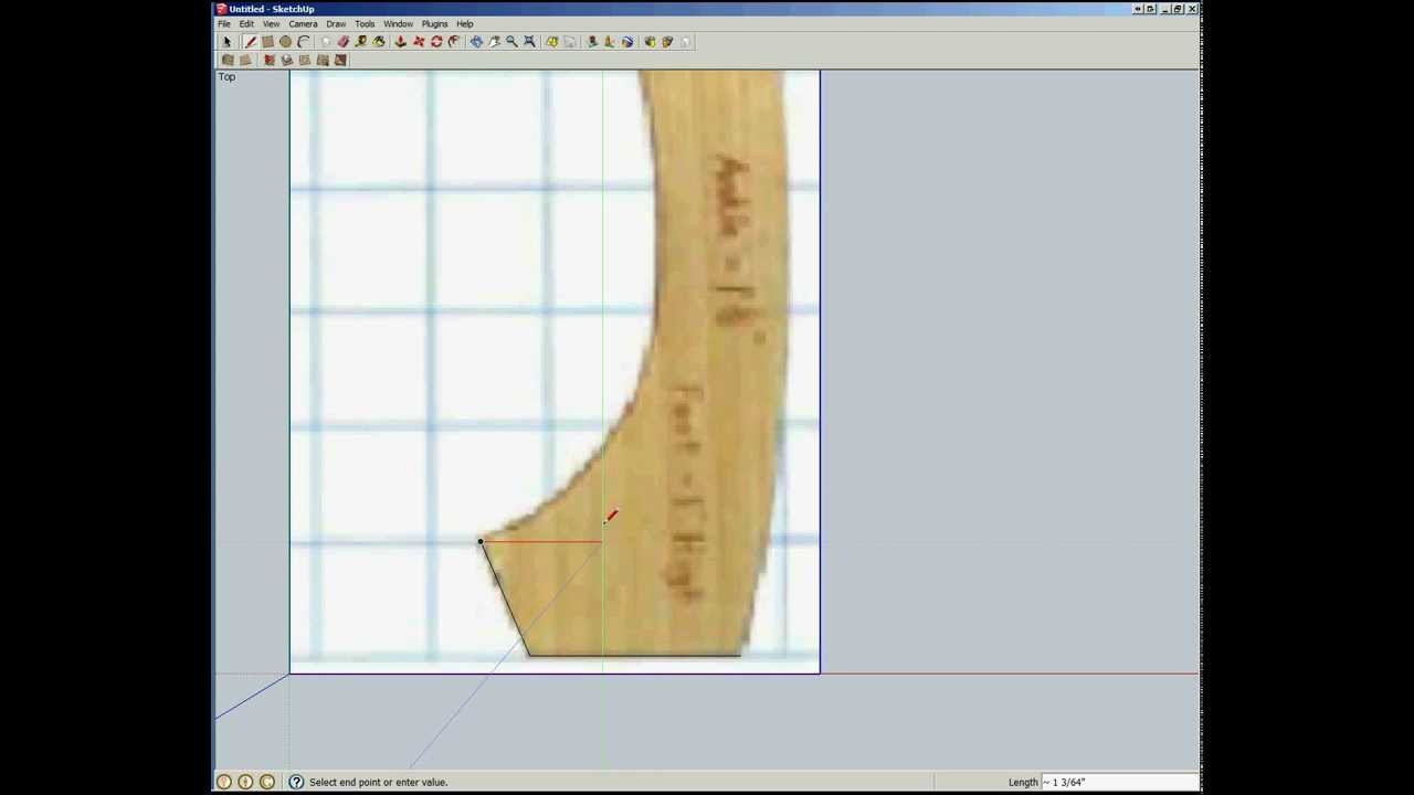 Creating A Cabriole Leg In Sketchup Using The Bezier Tool