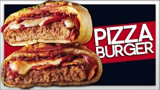 PIZZA BURGER! How To Make