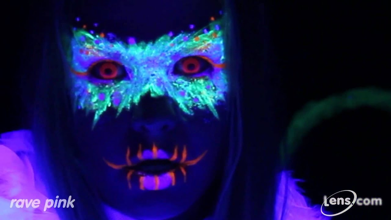 Rave Pink (Glow in the Dark) Contact Lenses at Lens.com ...