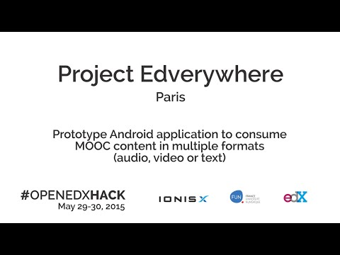 OPENEDXHACK - Pitch Edverywhere