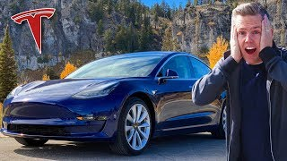 GETTING MY DREAM CAR! | Tesla Model 3 - Ellie and Jared