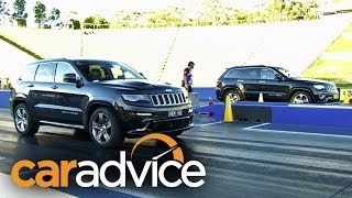 Jeep Grand Cherokee SRT vs Overland: Dragway Face-Off