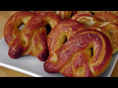 Homemade Soft Pretzels - Recipe by Laura Vitale - Laura in the Kitchen Episode 207