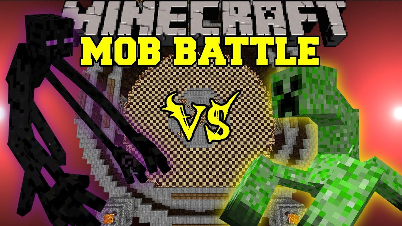 Mutant Enderman Vs Mutant Creeper Minecraft Mob Battles
