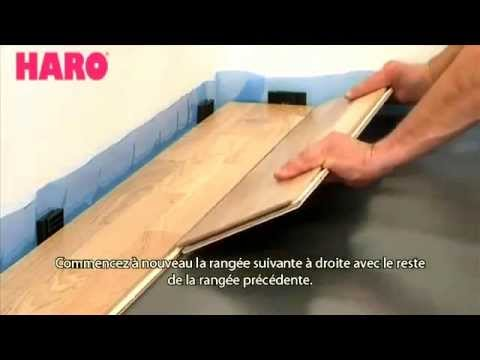comment poser un parquet flottant ou un stratifi de la marque haro topconnect youtube. Black Bedroom Furniture Sets. Home Design Ideas