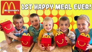 Kids React to First Happy Meal - YouTube