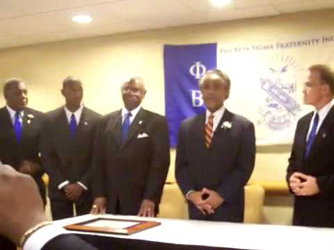 Al Sharpton's Remarks After Becoming a Member of Phi Beta Sigma Fraternity