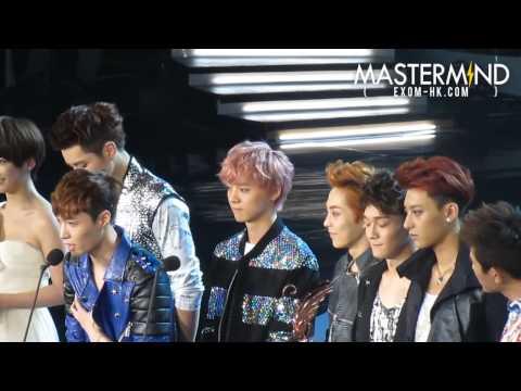 130414. 音樂風雲榜Billboard Music Award. EXO-M. 得獎感言 共6分鐘
