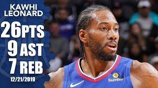 Kawhi Leonard scores 26 for LA Clippers vs. San Antonio Spurs | 2019-20 NBA Highlights