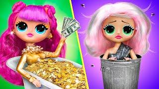 Rich Doll vs Broke Doll / 10 DIY Barbie Ideas