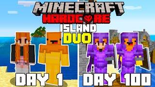 We Survived 100 Days In Hardcore Minecraft On An Island   Duo Minecraft Hardcore 100 Days