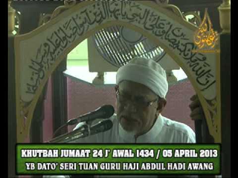KHUTBAH JUMAAT 24 J' AWAL 1434 / 05 APRIL 2013
