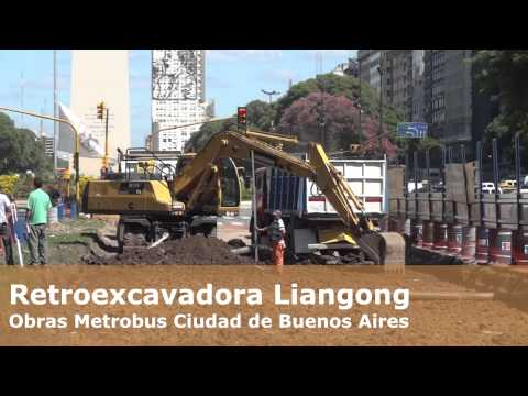 Retroexcavadora Liangong en Accion