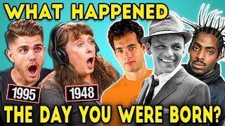 Adults And Elders React To The Day They Were Born (Movies, Music, Gas Prices?)