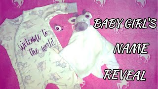 Baby Girl Name Reveal : 18 And Pregnant