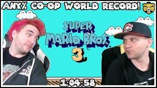 Super Mario Bros 3 Co-op Any% Warpless World Record 1:04:58